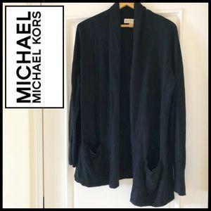 Michael Kors Classic Black Cardigan.